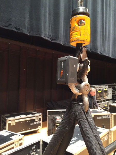 Load cell management. Massey Hall, Performings Arts Theatre, Toronto