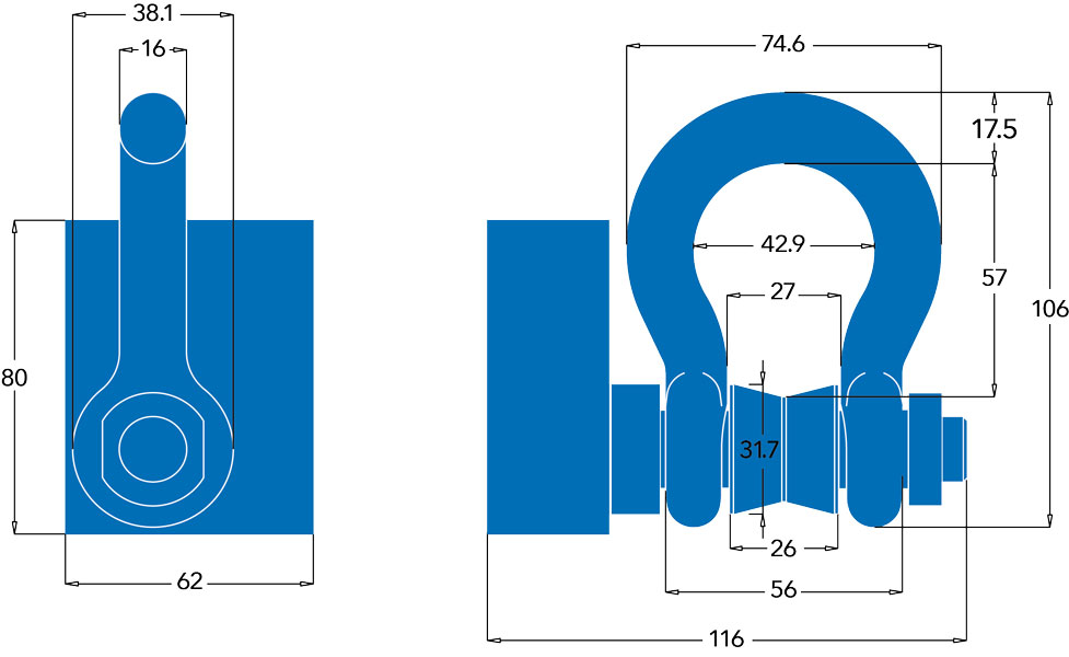 BroadWeigh Blue Shackle Diagrams