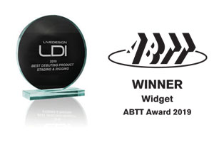 ABTT Widget Winner Award 2019 & LDI Best Debut Product