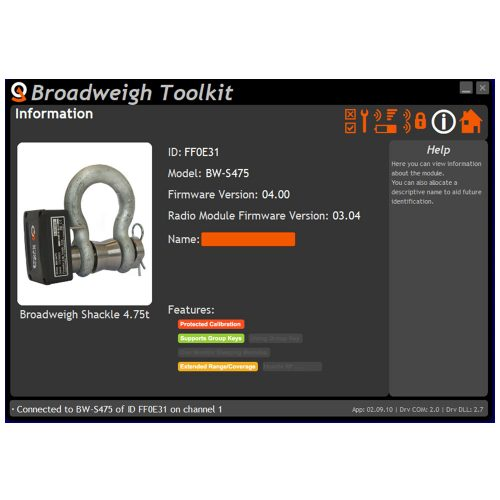 Broadweigh toolkit Info page