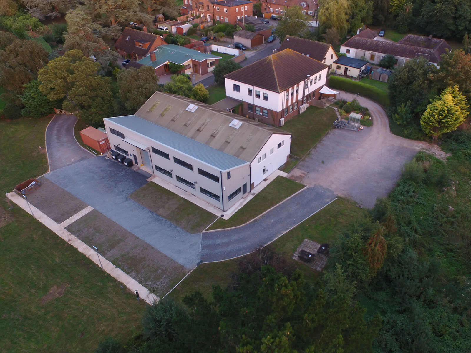 Broadweigh & Mantracourt premises drone shot