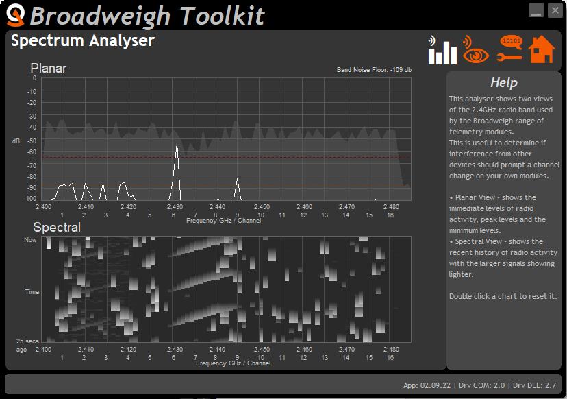 Broadweigh toolkit Spectrum Analyser